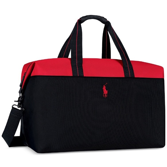 51a57923d5 france new polo ralph lauren red black pony gym duffle weekender bag free  priority ship 3605971674518 ebay 64513 e2ad7  spain ralph lauren polo duffle  ...